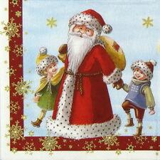 4x mesa única de Papel Fiesta Servilletas Para Decoupage Decopatch Trabajo Navidad Niños