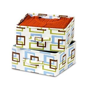 Honey-Can-Do 2-Pack Pre-Assembled Storage Drawers with Handles