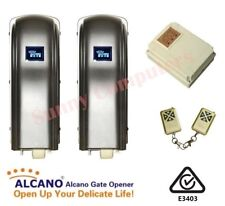 Alcano Premium Stainless Steel Double Swing Gate Remote Opener Motor Kit PM180