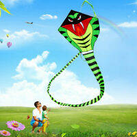 Huge 3D Kite Frameless Soft Parafoil Giant Cobra animal Kite Children's toy USA