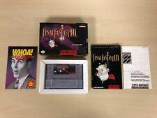 Final Fantasy III 3 Complete Game CIB Super Nintendo SNES FFIII FF3