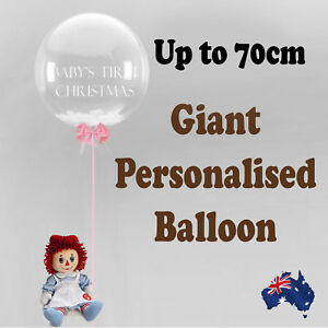 PERSONALISED JUMBO GIANT BUBBLE BALLOON BIRTHDAY BABY SHOWER  PARTY CHRISTENING