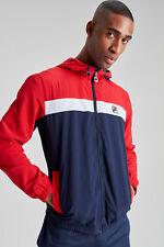 FILA Vintage Clipper Panelled Jacket/peacoat - Medium Ss18