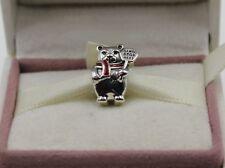 AUTHENTIC PANDORA  Christmas Polar Bear Charm, Berry Red Enamel, 796466EN  #1062