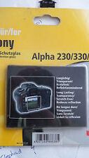 Hama 00088638 LCD VETRO DI PROTEZIONE PER Sony Alpha 330/380/230 Telecamere