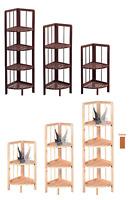 New Wooden Corner Shelf Shelving Rack Storage Unit Standing Home Decoration