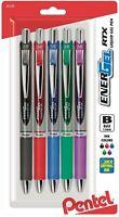 Pentel EnerGel RTX Liquid Gel Pens, 1.0mm BL80BP5M