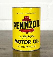 NOS USA ÖLDOSE [PENNZOIL] ÖL DOSE MOTOR OIL MOBIL TANKSTELLE ÖLKABINETT SHELL TA