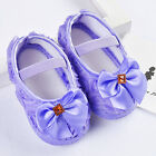 Toddler Baby Girls Crib Shoes Infant Bowknot Soft Sole Prewalker Sneakers 0-12 M