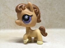 Littlest Pet Shop LPS #684 Horse Purple Snowflake Eyes Preowned
