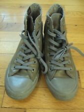 CONVERSE ALL STAR OLIVE ARMY GREEN & GRAY UNISEX SIZE MENS 5 WOMEN 7 RUBBER H2O