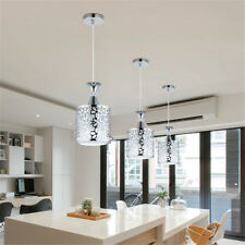 Modern Crystal Iron Ceiling Lights Chandelier Dining Room Pendant Lamp Decor