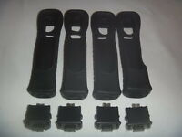 Official Nintendo Wii Remote Motion Plus Adapter Lot Of 4 Black + Sleeve RVL-026