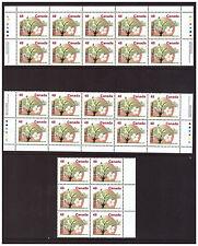Canada - #1363 - 1991 48c McIntosh Apple Imprint  Blocks VF-NH + 8 singles