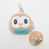 Rowlet Pokemon Licensed Owl Mascot Plush Toys Doll Key Chain Ring Coin Purse