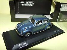 VW COCCINELLE 1302 SALOON 1970-72 Bleu Gemini MINICHAMPS 1:43