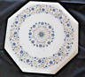 """12"""" marble corner side Table Top semi precious floral Inlay work room home decor"""