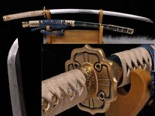 Japanese Tachi Samurai Sword Katana Steel With Clay Tempered Sharp Blade # 9627