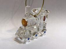 Crystal Train / Locomotive Ornament highlighted in Swarovski Crystals