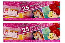 2X Disney Princess Theme SNACK Bags 50 Total Party Bags Jasmine Cinderella Ariel