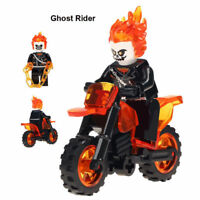 CUSTOM-MADE Ghost Rider with Motorcycle minifigure figure Movie TV for LEGO DC