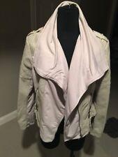 New Blanc Noir Faux Leather $29 Size XL Cream/Creme