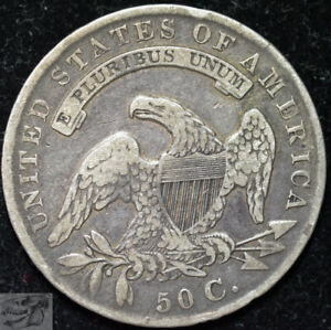 1836 Bust Half Dollar, Lettered Edge, Fine+ Condition, Silver, Free Ship, C5800