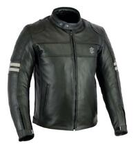 Rksports Speed 5 Mens Retro Leather Motorcycle Motorbike Jacket with Armour