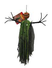 Animated Outdoor Hanging Skeleton Pumpkin Scarecrow Halloween Props Decoration