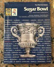 1985 Sugar Bowl Program Nebraska -Vs- LSU 51st Classic