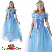Cinderella Movie Costume Womens Ladies Official Disney Princess Fancy Dress