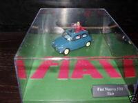 Voiture 1/43 FIAT : diorama fiat 500 nuova éco