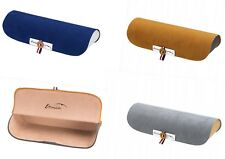 Metal Glasses Case, Bicolor Velour Leather Look With Magnetic Closure -3 Colours