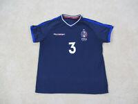 Ralph Lauren Polo Shirt Adult Large Blue France Soccer Futbol Football Mens