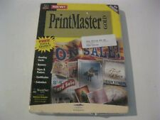 Printmaster Gold 3.0 new sealed PC game CD-ROM Mindscape