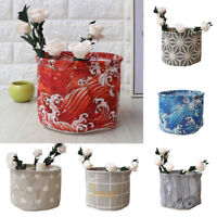 COTTON LINEN DESK BOX HOLDER ORGANIZER CASE JEWELRY COSMETIC STORAGE BASKET SUPR