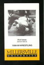 Millersville Marauders--1998-99 Wrestling Pocket Schedule--Jack's Family Tavern