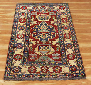 'Viratha' Hand Knotted Runner Rug 3x4 ft Handmade Oriental Wool Home Area Rugs