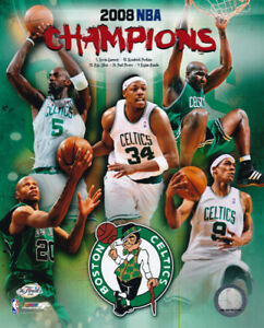 Boston Celtics 2008 NBA Champions Ray Allen Paul Pierce Kevin Garnett 8x10 Photo
