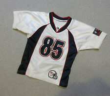 YOUTH BOYS FOOTBALL JERSEY GRID IRON #85 WHITE BLUE ALL SPORT PERFORMANCE SOFT