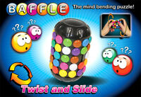 Baffle Puzzle 3D Brain Teaser Mind Bending Button Twist Slide Toy Logic Game Fun