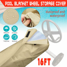 16ft Swimming Pool Solar Roller Reel Winter Cover Blanket Outdoor Protective 1 !