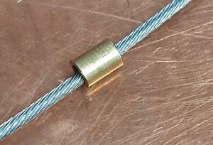 Motorcycle Carburettor / Throttle Cable End Barrel Nipples - 3mm OD Brass Solder
