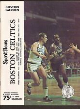 3-7-71  N.Y. KNICKS VS BOSTON CELTICS GAME PROGRAM