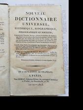 Nouveau dictionnaire universel, historique, biographique, bibliographique