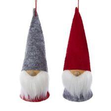 "Set of 2 Dwarf Bearded Gnome Christmas Ornaments, 5"" Tall, by Kurt Adler"