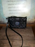 Calvin Klein Black Quilted Faux Leather Chain Strap CrossBody Bag