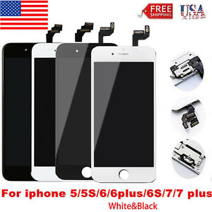 LCD Touch Screen Digitizer Replacement For iPhone 5 6s Plus+Home Button OEM new