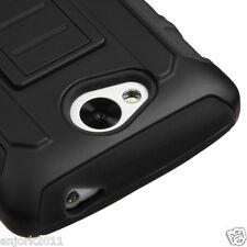 LG Optimus F60 Tribute Transpyre Hybrid C Armor Case w/Stand Cover Black