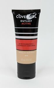 Covergirl Outlast Active Foundation + Sunscreen 832 Nude Beige -All Day Coverage